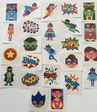 144 SUPERHERO TEMPORARY CHILDRENS TATTOOS - WHOLESALE PARTY LOOT BAG FILLERS