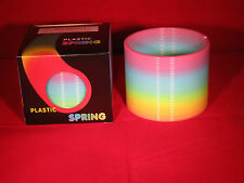 Colorful Rainbow Plastic Magic Coil Spring Glow-in-the-Dark Children's Toy 3""