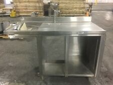 58-INCH STAINLESS STAND TABLE CABINET W WATER SPOUT SINK - SEND BEST OFFER!