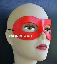 Red Harley Quinn Leather Mask Masquerade Halloween Geek Superhero Costume