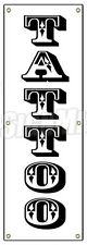 "72"" TATTOO BANNER SIGN (Vertical) shop artist body modification art piercing"