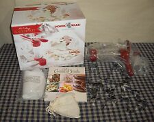 Nordic Ware Holiday Cookie Kit Cookie Press Cutters Icing Bags Tips Collars Book