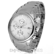 *NEW* DOLCE & GABBANA MENS D&G SANDPIPER STEEL WATCH 3719770110 - RRP £190