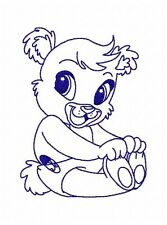Bluework Baby Bear Embroidery Designs on multi-formatted CD in 2 sizes