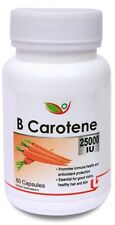 Biotrex Beta Carotene 25000IU pro-vitamin A for Healthy Heart, (60 Capsules)