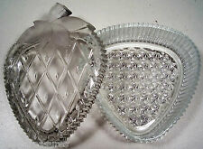 "BEAUTIFUL FROSTED CRYSTAL STAWBERRY BOX 4 1/2"" BRAND-NEW"