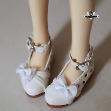 1/4 BJD Shoes Dollfie DOD AOD EID MID Hollow out Bow White Shoes MSD Shoes 0369