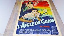 L' AIGLE DE GUAM  ! Jeffrey Hunter  affiche cinema 1962 grinsson