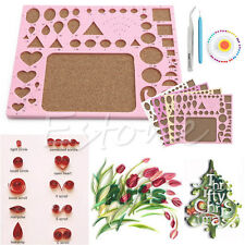 1PC Paper DIY Quilling Tool Set Template Mould Board + Tweezer +Pins + Slotted