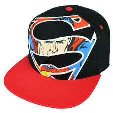 Superman DC Comics Hat Cap Snapback Man of Steel Flat Bill Black Red Cartoon