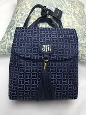 "Tommy Hilfiger backpack 11""x 10"" Bag 100% Authentic Navy Blue Good Gift! NEW$89"