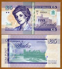 Wales (Great Britain) 5 Pounds, 2016 Private Issue, Specimen UNC   Princes Diana