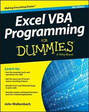 Excel VBA Programming For Dummies (Paperback), 9781119077398, Walkenbach, John