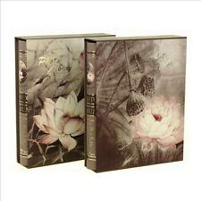 """Lotus Flower"" 1pc Slip-In Photo Album Beautiful Picture Album Hold 200 Photos"
