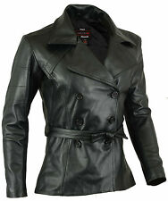 Classic 70's Womens Leather Coat Ladies Jacket Lamb Skin size XL
