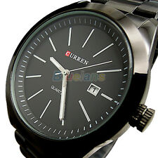 CURREN Mens Casual Waterproof Quartz Funky Date Calendar Hours Steel Wrist Watch