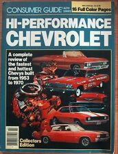 HI-PERFORMANCE CHEVROLET by CONSUMER GUIDE 1981 - REVIEW '53-'70