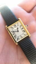 Vintage Unisex 18K Cartier Tank Watch Swiss Made 17 Jewel Manual Wind