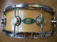 Craviotto DW 1-ply solid snare drum 14x5''. Attn collectors: rare green badge!