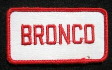 "BRONCO ~ JEEP  EMBROIDERED SEW ON PATCH AUTO CAR ~SU ~ OJ SIMPSON 3 1/2"" x 1 7/8"