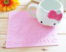 Cute Cartoon Hello Kitty Silicone Rubber Cup Cushion Bowl Pot Pan Coaster Mat