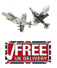 HARRIER Jump Jet Aeroplane Aircraft Pilots Cufflinks Hi Quality In Box  BE034