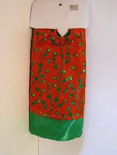 20 IN Red & Green with Green Dots Pattern Mini Tree Skirt CHRISTMAS DECORATION