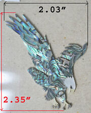 PH74# Eagle Headstock Inlay Abalone , White, Gold & Black Mother of Pearl