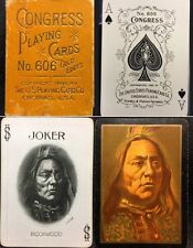 Rookwood c1899 Native American Indian Playing Cards High Grade Pottery Icon Deck