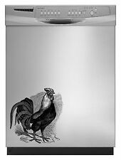 Rooster Detailed Kitchen Decal Sticker Refrigerator Dorm Fridge Retro Freezer