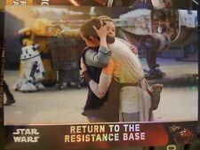 2016 Star Wars The Force Awakens Chrome #99 Return to the Resistance Base 74/99