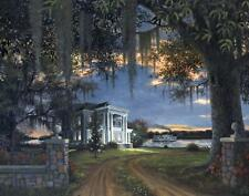 Evening Passage by Ron Carter Southern Plantation River Boat Open Ed Paper 22x28