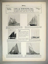Cox & Stevens PRINT AD - 1928 ~~ Yachts For Sale