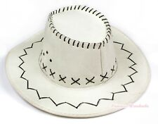 Teen Adult Size White Western Cowboy Hat Cattleman Unisex Costume for Party