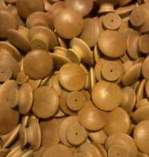 50 1-1/2 inch ROUND VARNISHED BIRCH KNOBS *NEW*Pulls Cabinet Handles Paintable