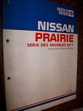 Nissan M11 PRAIRIE 1989 : livret de présentation