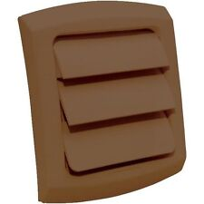 "DRYER VENT COVER  LOUVERED FITS 4"" VENT PIPE BROWN/PAINTABLE"