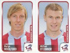 309 M. WOOLFORD/M.O'CONNOR SCUNTHORPE UNITED STICKER FL CHAMPIONSHIP 2010 PANINI