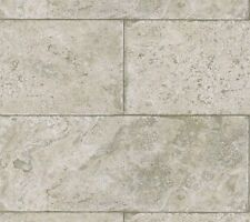 Pewter, Taupe, Grey Stone Block Limestone Tile Wallpaper 5522723