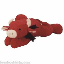 TY PILLOW PAL * RED * THE RED BULL 03021 Length 14""