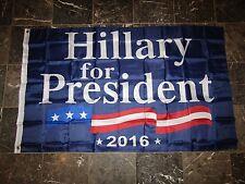 3x5 Hillary Clinton For President 2016 Flag 3'x5' Brass Grommets