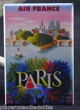 "Paris France Vintage Travel Poster 2"" X 3"" Fridge / Locker Magnet. Air France"