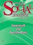 Harcourt Social Studies: Homework and Practice Book Student Edition Grade 3 by