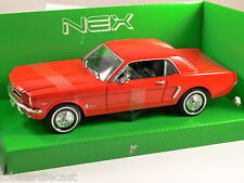 1964 FORD MUSTANG COUPE in Red 1/24 scale model by WELLY