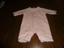 BOUTIQUE EMILE ET ROSE NEW BABY  50 0-3 BUNNY PINK OUTFIT