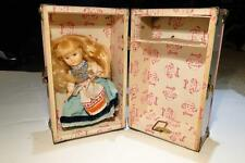 Vintage Ginny Pink & White Doll Case With Ginny/Vogue Doll