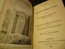 AN ESSAY ON COINS, MEDALS AND GEMS, 1830 Rev.  WALSH 3rd edition