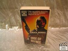 Code of Silence (VHS) Large Case Chuck Norris; Very Good
