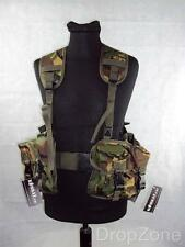 DPM Woodland Ammo Military PLCE Webbing Set, Pouches, Yoke & Belt, Paintballing