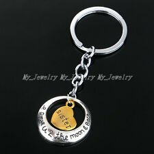 Charm Xmas Gift Fashion Family Sister Heart Key Ring Chain Keyring Keychain Gift